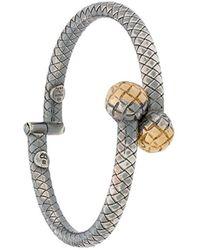 Bottega Veneta Dichotomy Cuff Bracelet - Metallic