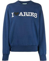 Aries Printed Sweatshirt - Blue