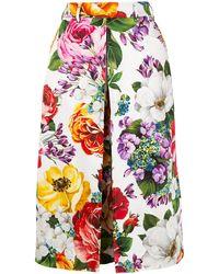 Dolce & Gabbana Юбка С Цветочным Принтом - Многоцветный
