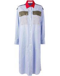 Sonia Rykiel ストライプ シャツドレス - ブルー