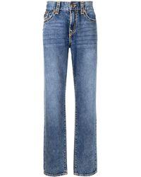 True Religion Slim-Fit-Jeans mit Kontrastnaht - Blau