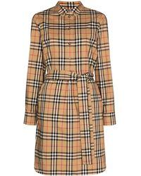 Burberry - Платье-рубашка В Клетку Vintage Check - Lyst