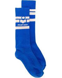 Isabel Marant ロゴ 靴下 - ブルー