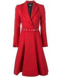 Karl Lagerfeld Manteau à boutonnière croisée - Rouge