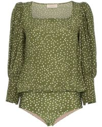 Adriana Degreas - Mille Punti Puffed Sleeve Top - Lyst