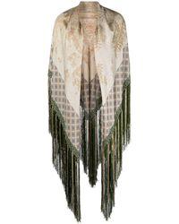 Pierre Louis Mascia Fringed Silk-satin Scarf - Multicolor