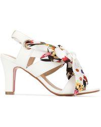 0b932553c03 Lyst - Tory Burch Bow Kitten Heel Sandal in Pink