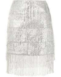 Macgraw Thistle Fringed Sequined Skirt - Metallic