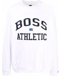 BOSS by HUGO BOSS ロゴ スウェットシャツ - ホワイト
