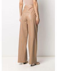 DROMe Pantalon en cuir à coupe ample - Neutre