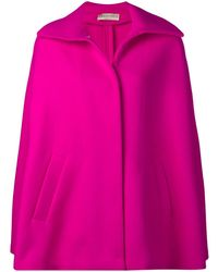 Emilio Pucci Double Face Wool Cape - Pink