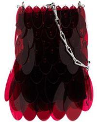 Paco Rabanne Мини-сумка Iconic 1969 Sparkle - Красный