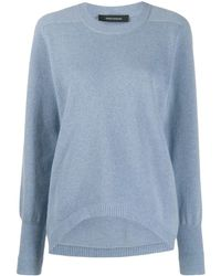 Cedric Charlier Curved Hem Sweater - Blue