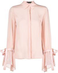 Alice + Olivia フレアスリーブ シルクシャツ - ピンク