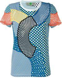 Stella McCartney Cobalt Mesh Mix Tシャツ - ブルー