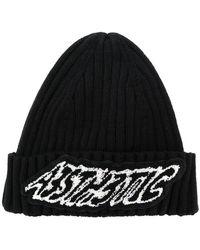DIESEL - Slogan Embroidered Beanie Hat - Lyst