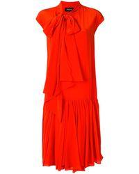 Rochas - Vestido tubo con cuello lazado - Lyst
