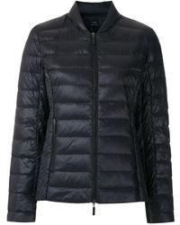 Armani Exchange ジップ パデッドジャケット - ブラック