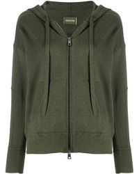 Zadig & Voltaire ジップアップ パーカー - グリーン