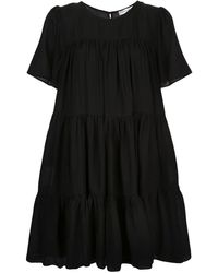 Anine Bing Tabitha ショートスリーブ ドレス - ブラック