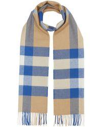 Burberry Geruite Sjaal - Blauw