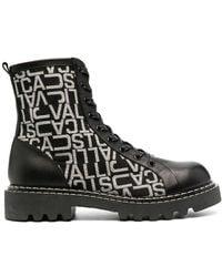 Just Cavalli モノグラム ブーツ - ブラック