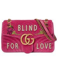 Gucci - Gg Marmont Medium Shoulder Bag - Lyst