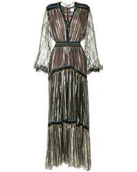 Peter Pilotto - Striped Metallic Chiffon Gown - Lyst
