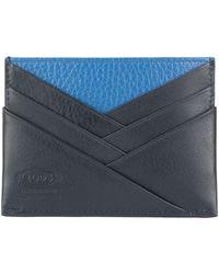 Tod's カードケース - ブルー