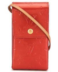 Louis Vuitton Портсигар Vernis 2001-го Года С Ремнем Через Плечо - Красный