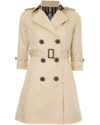Guild Prime - Cropped Sleeve Trench Coat - Lyst