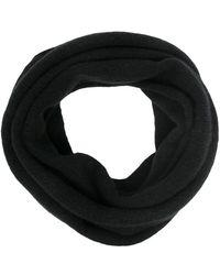 Isabel Benenato メリノウールブレンド スカーフ - ブラック