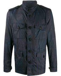 Etro Paisley Multi-pocket Jacket - Blue