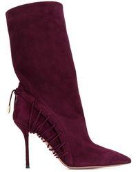Aquazzura - Lace-up Details Boots - Lyst