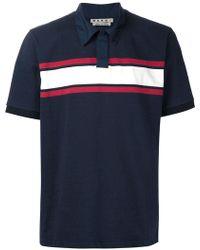 Marni | Striped Polo Shirt | Lyst