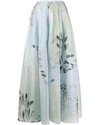 Giorgio Armani シルクスカート - ブルー