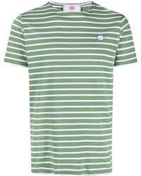 Societe Anonyme Striped Cotton T-shirt - Green