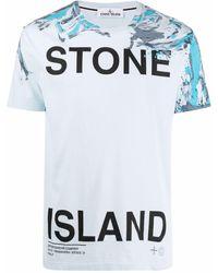 Stone Island ロゴ Tシャツ - ブルー