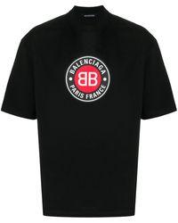 Balenciaga Футболка С Логотипом Bb - Черный