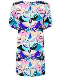 Emilio Pucci - Psychedelic Print Mini Dress - Lyst