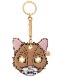 Mulberry Fluffy Cat Keyring - Multicolour