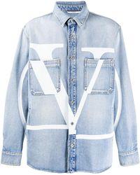 Valentino Denim Overhemd - Blauw