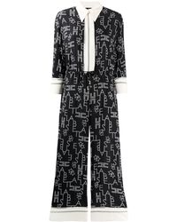 Elisabetta Franchi Jumpsuit Met Print - Zwart