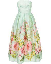 Bambah シルク イブニングドレス - グリーン
