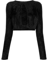 Antonino Valenti Cropped Long-sleeve Cardigan - Black