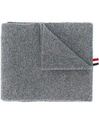 Thom Browne Шарф С Полосками 4-bar - Серый