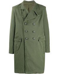 Balmain Manteau à boutonnière croisée - Vert