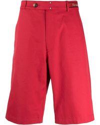 Alexander McQueen Шорты-бермуды С Логотипом На Поясе - Красный