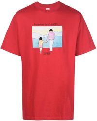Supreme Graphic-print T-shirt - Red