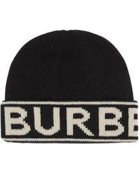 Burberry Kasjmier Muts - Zwart